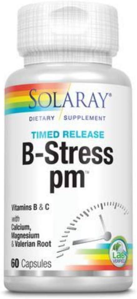 Solaray B Stress P.M Spasm price Limited Special Price 60ct Btl-Plastic Capsule