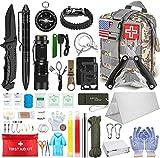 Neu GIGANTISCH Survival Kit ZS-19 Militärisches Überlebenskit 105-in-1 Zelt Erste-Hilfe-Set Messer Taschenlampe Kompass für Reisen Wandern Camping Outdoor Sport