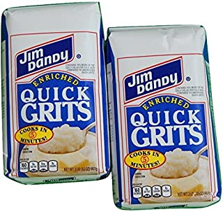 Jim Dandy Enriched White Corn Quick Grits 2-Pound Bag (Pack of 2)
