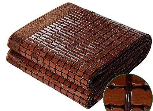 YAYONG Cooling Summer Sleeping Mat Colchón De Bambú Mahjong Carbonizado De Doble Tendón De Carne Plegable, Suave Y Duradero, para Dormitorio Almohadilla Doble para Estudiantes Colchoneta Plegable