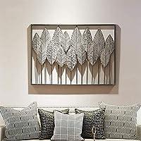 現代の3Dの葉金属壁アート装飾透かし彫り彫刻壁掛けアート家の装飾のための錬鉄