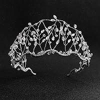 女性のためのヘアアクセサリーファッションゴールド/シルバーカラークリスタルティアラクラウンヘッドピース花嫁結婚披露宴ヘッドバンドヘアオーナメントシルバー