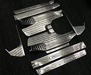 Unlimited Rubicon Sahara Sport//Sport S 2019 2020 Stainless Steel Side Inner Door Sill Scuff Plate Pedal Guard Protector Car Accessories 4PCS JL HIGH FLYING for Jeep Wrangler