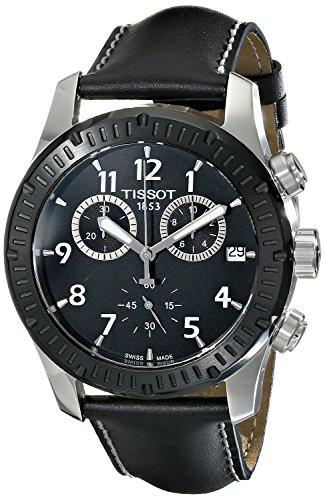 Tissot–Reloj de Pulsera Hombre cronógrafo Cuarzo Piel t039.417.26.057.00