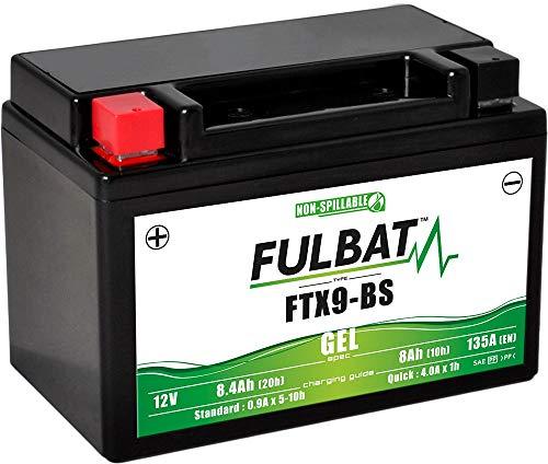 Fulbat - Batería moto Gel YTX9-BS / FTX9-BS / WP9BS 12V 8Ah