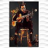 qianyuhe Druck auf Leinwand Modernes Johnny Cash Poster und