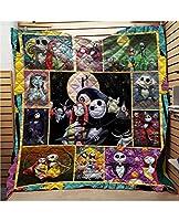 夏のキルト寝具セットNi-Ght-Mare Fore Chri-Stm-As Sk-Ele-Ton JA-CK 3D子供漫画のキルトカバーセット10代のマイクロファイバー掛け布団カバーセット1個フルサイズ (Color : C, Size : 200X230CM)