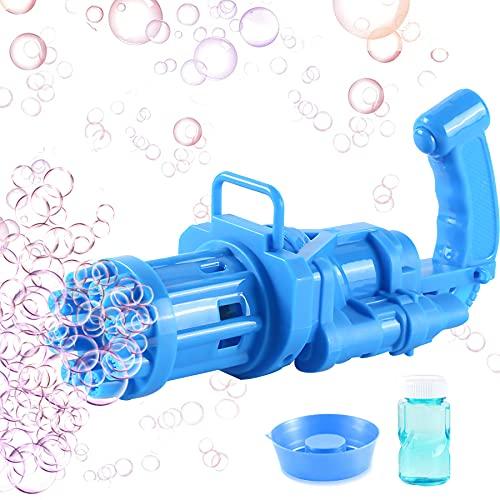 Gatling Bubble Machine,8 fori Bubble Maker Guns, Bubble Guns, pistola per bolle di sapone, automatica Bubble Maker, Gatling Bubble Gun, macchina per bolle per bambini