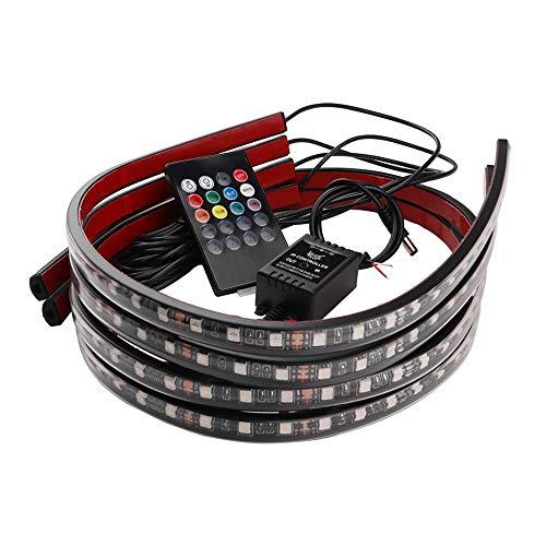 MEROURII Coche LED Tira Luz,para Iluminación Debajo del Coche Luces Luminosas con Sonido Activo, Control Remoto
