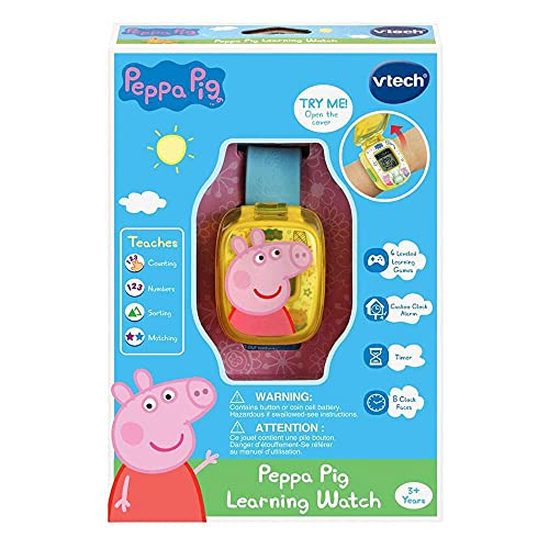 Vtech Peppa Pig Watch, Interactive Toy, Preschool Learning Toy with Numbers, Shapes and More for Toddlers, Electronic Toy For Kids, Boys & Girls 3, 4, 5, 6 Year Olds