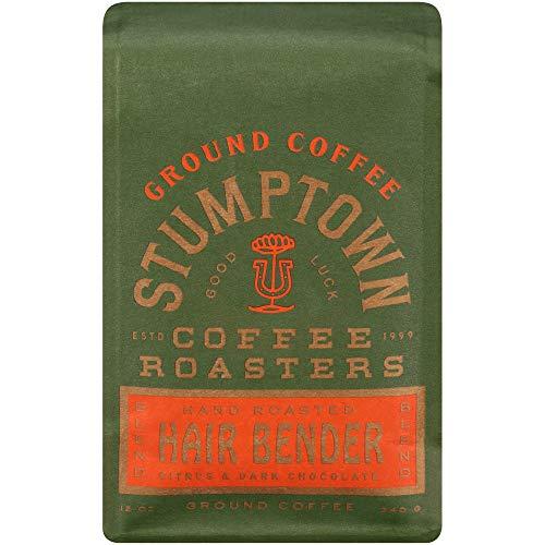 Stumptown Coffee Roasters, Hair Bender - Ground Coffee - 12 Ounce Bag, Flavor Notes of Citrus and Dark Chocolate