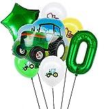 LIZHIOO 7pcs Ballons De Coche De Dibujos Animados, Globos De Impresión De Lámina De Aluminio del Tractor, Usados para Regalos De Niño Decoración De La Fiesta De Cumpleaños para Niños Bolas De Látex