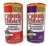 Creole Seasoning 3.8 oz & Blackened Seasoning 2.75 oz Cajun's Choice Louisiana Foods (Pack)