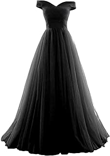 Henglizh Women's Strapless Empire Waist Long Tulle Prom Evening Dress Bridesmaid Party Gowns
