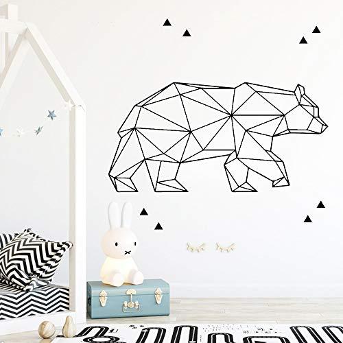 Diy oso vinilo papel pintado autoadhesivo sala estar
