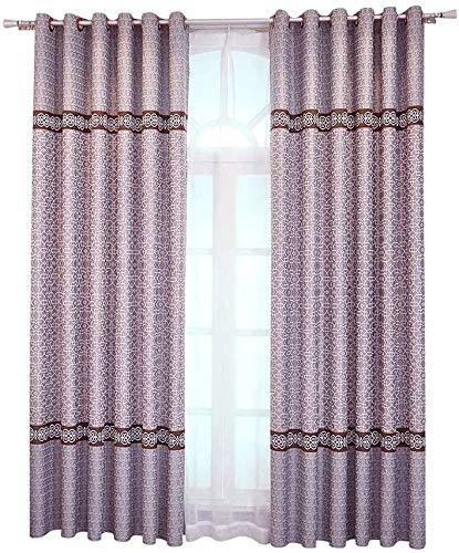 RR & LL gordijnen in Chinese stijl, ondoorzichtig, van katoen en linnen, voor woonkamer, slaapkamer, isolatie, voor werkkamer, zonwering, ramen, vloer Width 400*height 270cm (curtain) 1 exemplaar