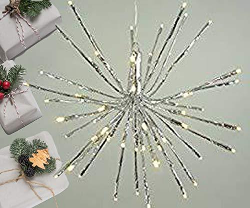LED-Stimmungsleuchte LED-Stern LED-Weihnachtsleuchte LED-Beleuchtung Stern Sadie 80LED warmweiß Weihnachtsstern Leuchtstern Dekorations-Stern zum aufhängen LED-Dekorationsleuchte
