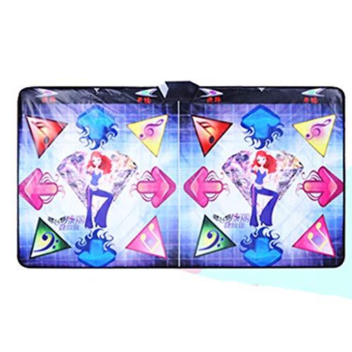 LHT Danza HD Manta Doble TV Interfaz del Ordenador de Doble Uso somatosensorial Juego de Baile La máquina de Bailar Alfombras de Baile (Color : B)