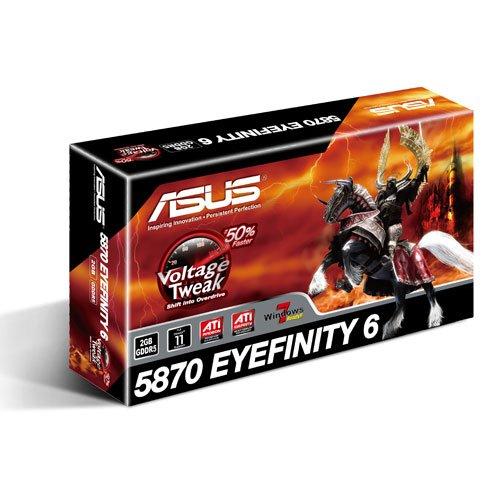 Asus 5870 Eyefinity ATI Radeon HD 5870 Grafikkarte (PCI-e, 2GB GDDR5 Speicher, DVI, HDMI, DisplayPort)
