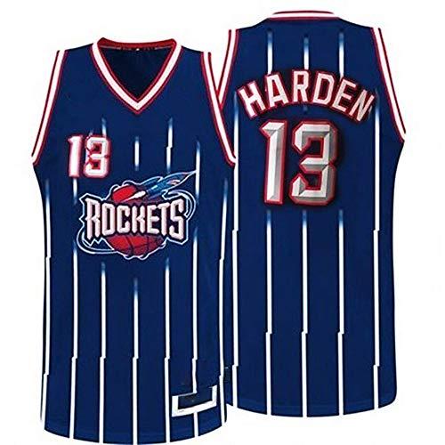 XIAOHAI Jerseys de la NBA para Hombre -Houston Rockets # 13 James Harden Fresco Tela Transpirable Resistente al Desgaste Transpirable Vintage Basketball Jerseys Top Camiseta,S