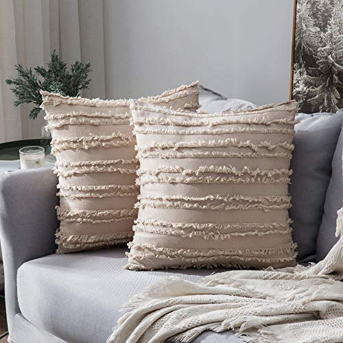 MIULEE Decorative Boho Throw Pillow Covers