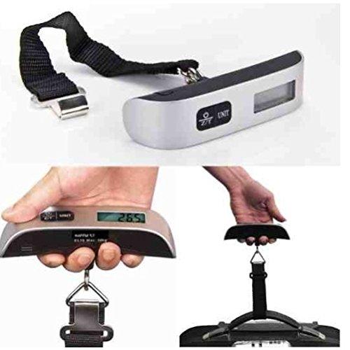 DeliaWinterfel Micro Bilancia Digitale da Viaggio per Bagagli capacità 50 kg. by