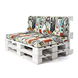 Conjunto colchoneta para sofas de palet y respaldo