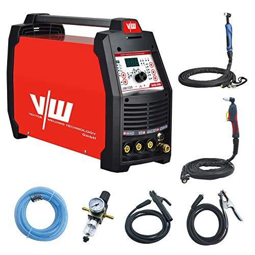 Kombi 3 in 1 Wig Schweißgerät mit Elektrodenschweißen und Plasmaschneider | HF-Zündung - Pulsfunktion - 2 und 4 Takt - Jobspeicher - Digitales Anzeigendisplay von Vector Welding