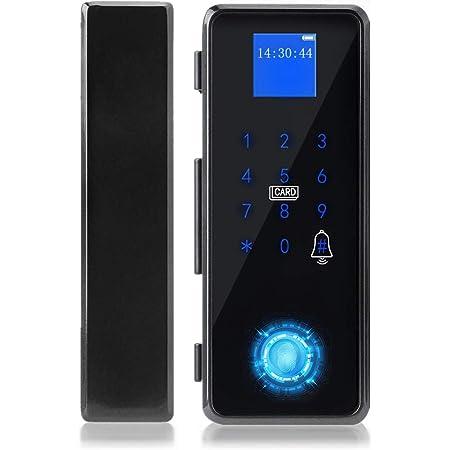 Smart Door Lock, Smart Fingerprint Password IC Card APP Door Lock per Frameless Glass Door Sistema di controllo accessi