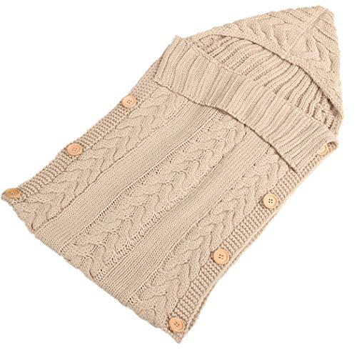 COSYOO Manta de Pañales Suave Tejida Cálida Y Lavable Manta para Recién Nacidos Envoltura para Dormir Infantil Bolsa para Empavesado