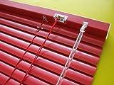 Alu Jalousie Rot - Breite 50 bis 240 cm - Höhe 130