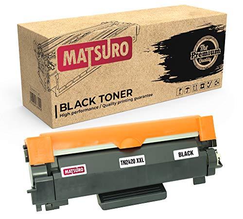 Matsuro Original | Compatible Cartucho de Toner Reemplazo para Brother TN-2420 XXL (1 Negro)