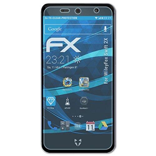 atFolix Schutzfolie kompatibel mit WileyFox Swift 2X Folie, ultraklare FX Bildschirmschutzfolie (3X)
