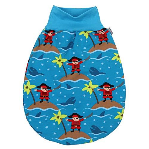 "Lilakind"" Baby Kinder Sommer Schlafsack Strampelsack Pucksack Blau Piraten Gr. XXL - Made in Germany"
