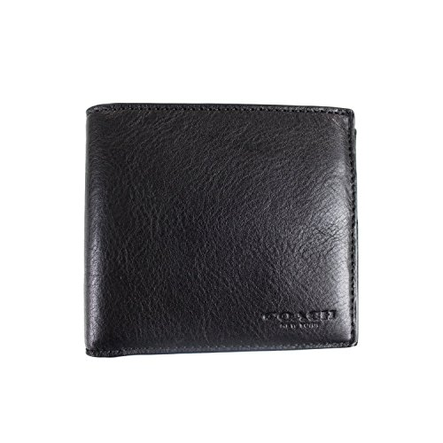 COACH DOUBLE BILLFOLD SPORT CALF LEATHER, F75084 (Black),...