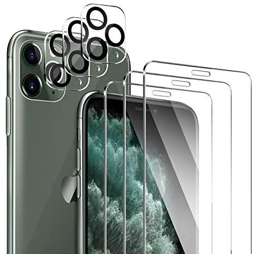 ivencase 3 Stück Schutzfolie Kompatibel mit iPhone 11 Pro Panzerglas und Kamera Panzerglas