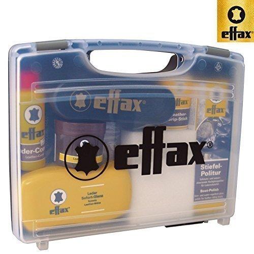 Effax Leder-Pflege-Koffer Stiefelpolitur, Ledergripstick, Lederbalsam, Ledercombi
