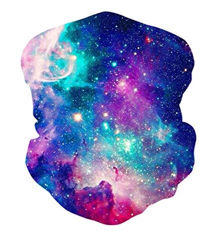 RAISEVERN Galaxy Nebula Nahtlose Bandanas Multifunktionale Stirnbänder Schal Headwrap Neckwarmer für Staub, Outdoor, Sportfestivals