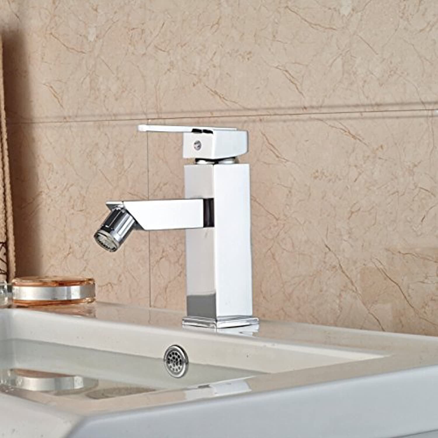 Tourmeler Led 3 color Changing Bathroom Bidet Faucet Deck Mount Single Handle Brass Washbasin Mixer Tap Chrome Finish
