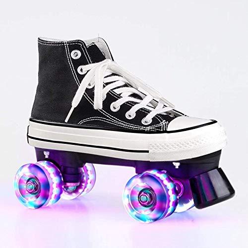 BENREN Light Up Wheels Rollschuh, Rollschuhe, Zweireihige Rollschuhe, für Mädchen und Damen Unisex