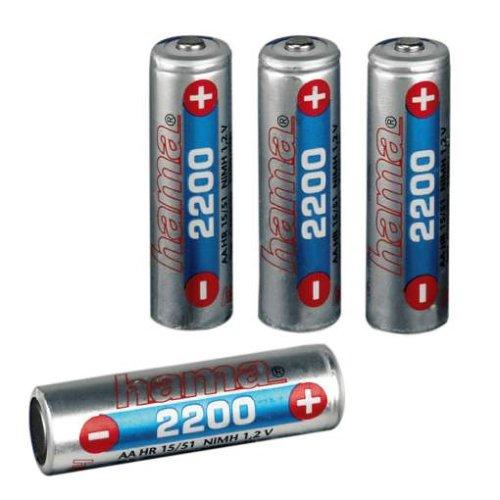 Hama NiMH-Batería de Pilas AA (2200 mAh) 4 Pack