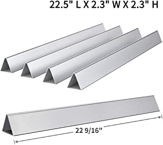 SHINESTAR 7536 22.5 inch Flavorizer Bars Replacement for Weber Spirit 310 E310 E-320 300 (w/Side Control Knobs), Set of 5 Stainless Steel Flavor Bars for Genesis Silver B C, Genesis Gold B C(SS-WB001)
