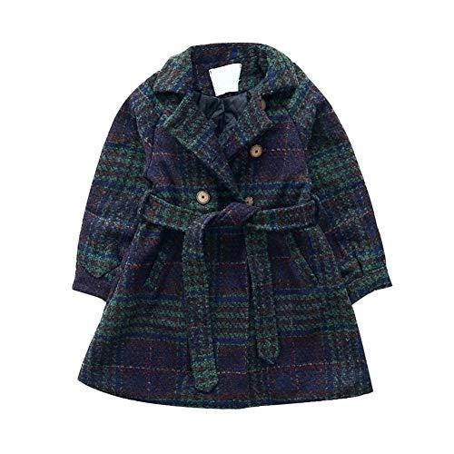 Lange mouwen, voor herfst en winter, jurk, voor meisjes, van wol, voor de winter