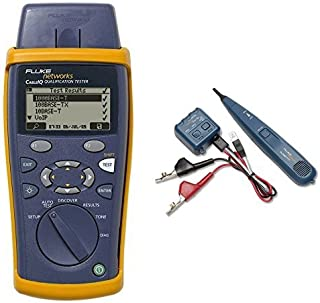 Fluke Networks CIQ-100 Network Cable Tester and 26000900 Pro3000 Tone Generator and Probe Kit bundle