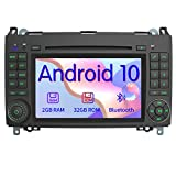 AWESAFE Android 10 Autoradio mit Navi für Mercedes-Benz, unterstützt DAB+ WLAN CD DVD Bluetooth MirrorLink 2 Din 7 Zoll Bildschirm