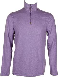 Tasso Elba Men's Heathered Supima Cotton 1/4 Zip Pull-Over Sweater BHFO
