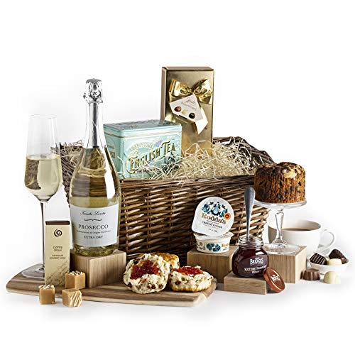 Luxury Afternoon Tea With Prosecco Hamper - Cream Tea Hampers & Gift Baskets - Hamper Gifts For Her