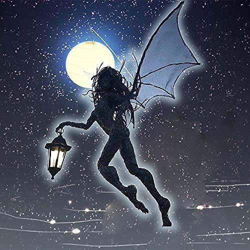 NTA Elfe avec Une Lampe De Poche-Lampe de Jardin Lanterne Ange Fille,Fées avec lampes de Poche de...