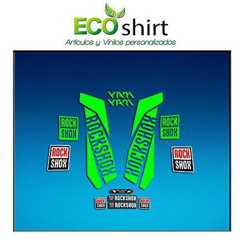 Ecoshirt 95-6AMV-KZBD Pegatinas Stickers Fork Rock Shox...