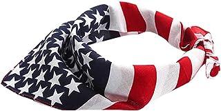 PRETYZOOM Fasce Bandiera Americana 4 Luglio Fascia USA Bandiera Bandana Fascia Patriottica per Festa Dell'indipendenza 4 L...